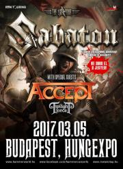 "Sabaton ""The Last Tour"" 2017 + very special guest: Accept"